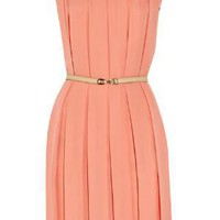 Net-a-porter.com Chlo? Pleated silk-crepe dress