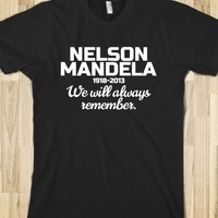 NELSON MANDELA TRIBUTE T-SHIRT (DARK)