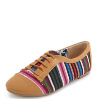 STRIPED CANVAS INSET OXFORD