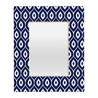 Aimee St Hill Leela Navy Rectangular Mirror