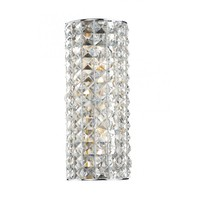 Dar Lighting Matrix 2 Light Switched Wall Sconce in Polished Chrome with Crystal Decoration - Dar Lighting from Castlegate Lights UK