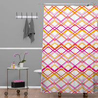 Heather Dutton Intersection Bright Shower Curtain