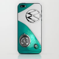 VW Split Screen in Teal iPhone & iPod Skin by Alice Gosling
