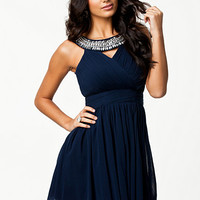 Trim Cross Front Dress