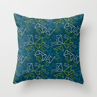Mail Envelope Throw Pillow by markmurphycreative
