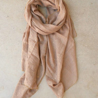 Speckled Gold Scarf [4784] - $14.00 : Vintage Inspired Clothing & Affordable Dresses, deloom | Modern. Vintage. Crafted.