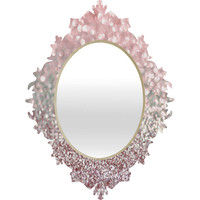 Lisa Argyropoulos Girly Pink Snowfall Baroque Mirror - SALE