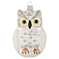 "5"" Snow Owl Ornament, White"