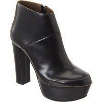 Raw Edge Platform Ankle Boot