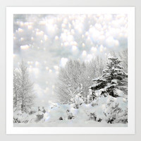 winter magic Art Print by Marianna Tankelevich