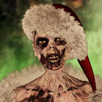 Zombie Christmas Fine Art Prints, Canvas Art, Framed Art, Greeting Cards, Christmas Cards and Posters for Sale