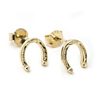 Catbird :: Horseshoe Stud Earrings - vermeil