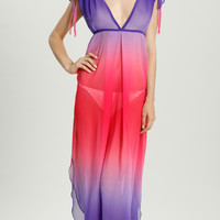 Ombre Chiffon Maxi Dress - OC-041