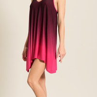 Ombre Muse Racer Back Dress - OK-745