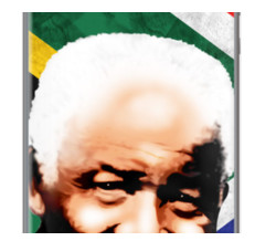 Nelson Mandela Madiba By BluedarkArt for Apple iPhone 5