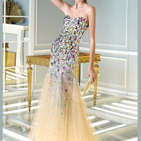 Sweetheart Neckline Beaded Mermaid Formal Dress By Alyce 2287