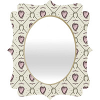 Belle13 Lucky Love Web 1 Quatrefoil Mirror