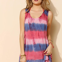 Ecote Mira Tie-Dye Cover-Up Slip Dress - Urban Outfitters