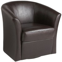 Isaac Swivel Chair - Brown