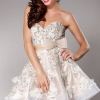 Strapless Flounce Dress by Jovani Homecoming