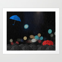 Blue Art Print by Derek Temple