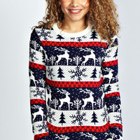 Loren Large Reindeer Knitted Jumper