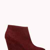 Sleek Faux Suede Booties