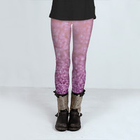 Lilacs in the Snow by Lisa Argyropoulos (Leggings)