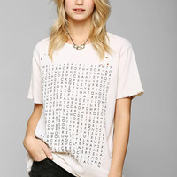 Feather Hearts Scramble Tee - Urban Outfitters