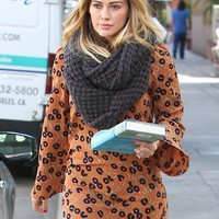 Paula Bianco Chunky Infinity Scarf in Charcoal as seen on Hilary Duff and Rosie Huntington-Whiteley