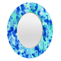 Rosie Brown Blue On Blue Oval Mirror