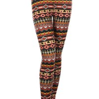 Tribal Print Knit Leggings