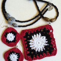 Caribbean Collection Trinidad Crochet Necklace Set