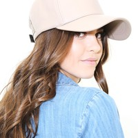 West Coast Wardrobe Mind Games Leather Hat in Taupe