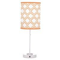 Duo-tone Moroccan Trellis (Orange) (Monogram)