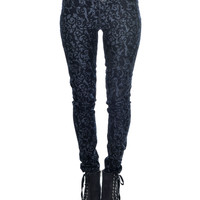 Wallflower Velvet Flocked Jeans