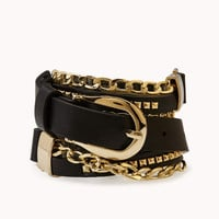 Cool Girl Studded Chain Belt