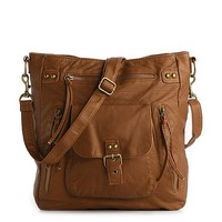 Poppie Jones Washed Double Cross Body Bag