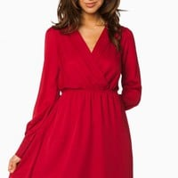 REECE DRESS IN BURGUNDY