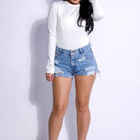Love Lost Bodysuit- White