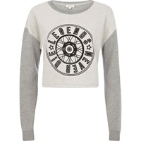 GREY LEGENDS NEVER DIE CROPPED SWEATSHIRT