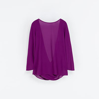 BLOUSE WITH DRAPED BACK
