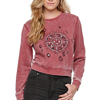 LA Hearts Shrunken Crew Fleece at PacSun.com