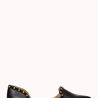Total Stud Faux Leather Flats