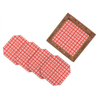 Lisa Argyropoulos Country Plaid Vintage Red Coaster Set