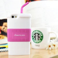 Americano Coffee Cup Silicon Phone Case For iPhone