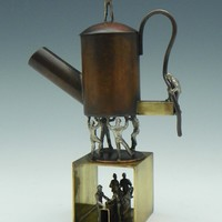 Tea He by Malcolm Owen Mary Ann Owen: Metal Teapot | Artful Home