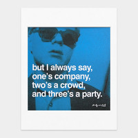 Warhol: Famous Quotes, Matted Prints
