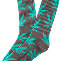 The Plantlife Sock in Charcoal and Turquoise