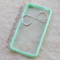 One Direction Teal Blue Frosted Translucent iPhone 5,5c,5s Case, iphone 4,4s case--6 color available